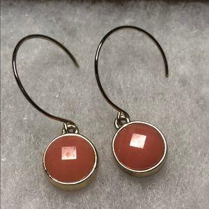 *6/$30* Coral drop earrings